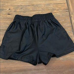 goodtime Shorts - Black Faux leather shorts